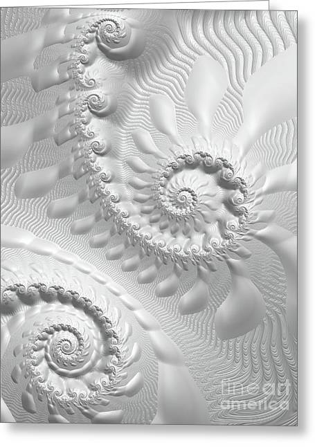 Abstract Waves Greeting Cards - Simplicity  Greeting Card by Heidi Smith