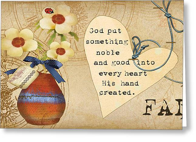 Butterflies Paintings Greeting Cards - Simplified Faith Greeting Card by Grace Pullen