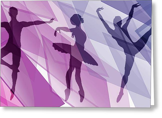 Simply Dancing 1 Greeting Card by Angelina Vick