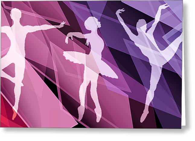 Simply Dancing 2 Greeting Card by Angelina Vick