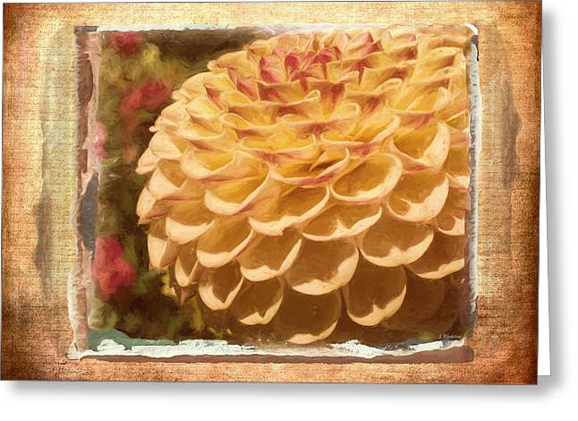 Diane Keaton Greeting Cards - Simply Moments - Flower Art Greeting Card by Jordan Blackstone