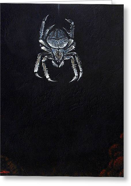 Creepy Crawly Greeting Cards - Simply Spider Greeting Card by Cara Bevan
