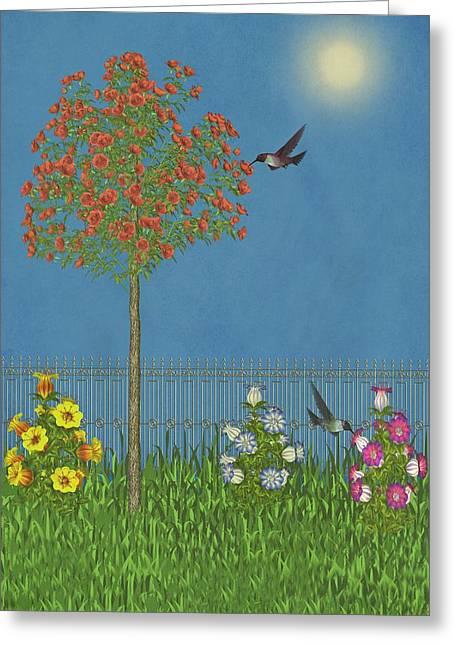 Back Yard Birds Greeting Cards - Simply Spring II Greeting Card by David Dehner