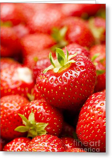 Mound Greeting Cards - Simply Strawberries Greeting Card by Anne Gilbert