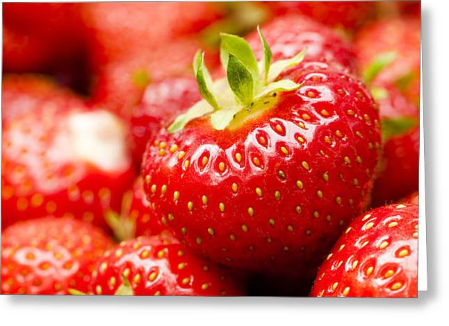 Simply Strawberries Greeting Card by Anne Gilbert