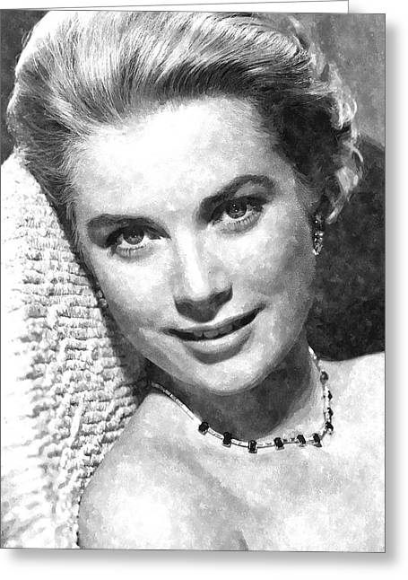 Kelly Greeting Cards - Simply Stunning Grace Kelly Greeting Card by Florian Rodarte
