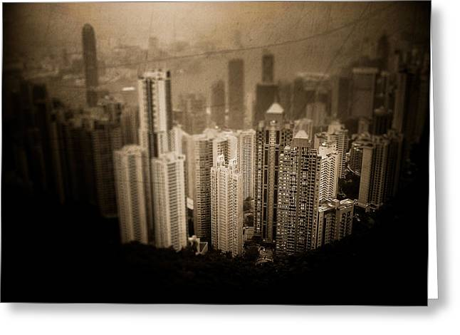 Kowloon Greeting Cards - Sin City Greeting Card by Loriental Photography