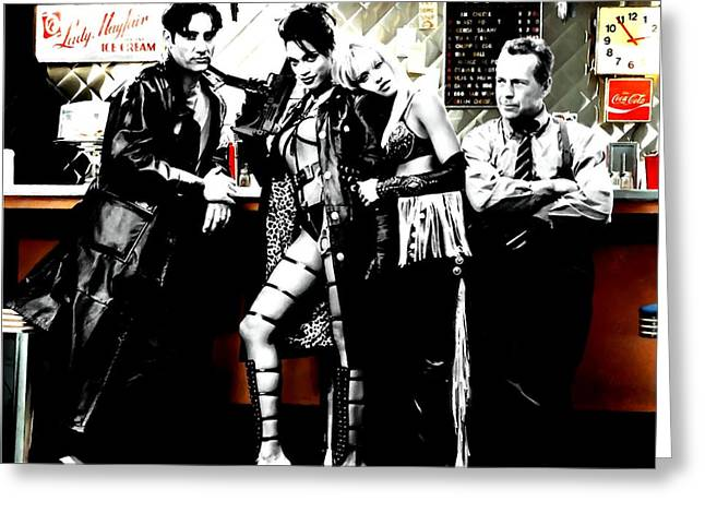 Frank Miller Greeting Cards - Sin City Starring Greeting Card by Gabriel T Toro
