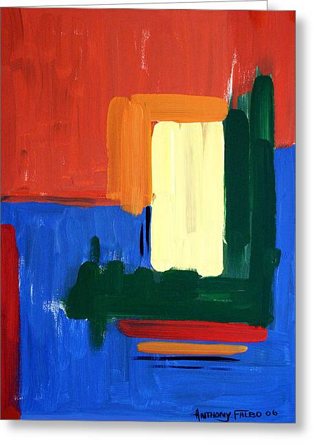 Abstract Poster Greeting Cards - Sin Is Crouching At Your Door Greeting Card by Anthony Falbo