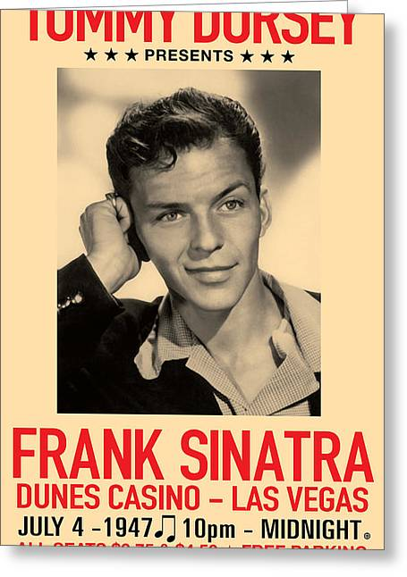 Antique Digital Art Greeting Cards - Sinatra Concert Greeting Card by Gary Grayson