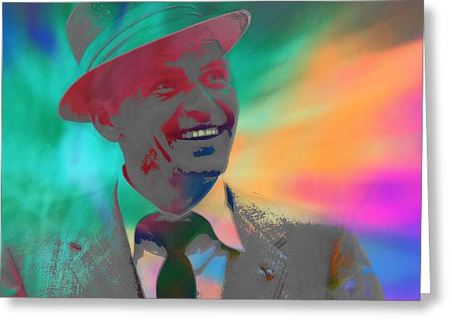 Come With Me Greeting Cards - Sinatra Greeting Card by Dan Sproul