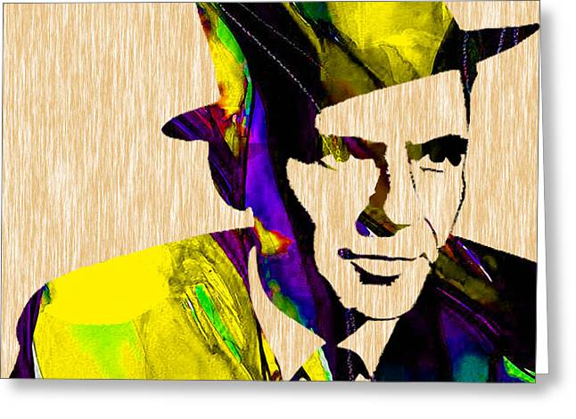 Concert Greeting Cards - Sinatra Greeting Card by Marvin Blaine