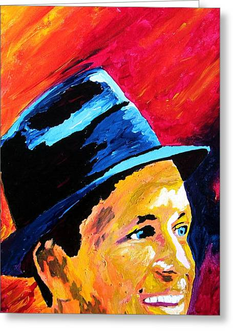 Sinatra My Way Greeting Card by Kevin Rogerson