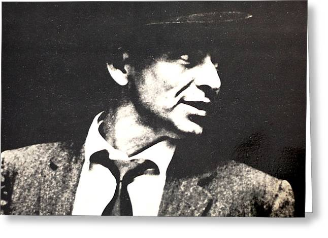 Sinatra Portrait Greeting Card by Gina Dsgn
