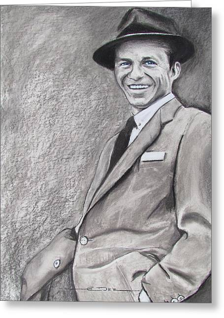 Francis Pastels Greeting Cards - Sinatra - The Voice Greeting Card by Eric Dee