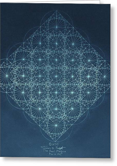 Black Drawings Greeting Cards - Sine Cosine and Tangent Waves Greeting Card by Jason Padgett
