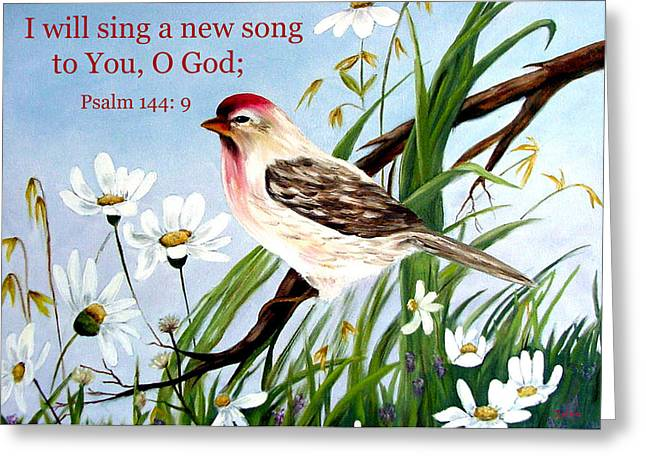 Zelma Hensel Greeting Cards - Sing unto the Lord Greeting Card by Zelma Hensel