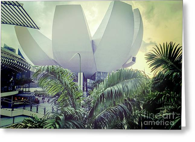 Museums Art Greeting Cards - Singapore ArtScience Museum Greeting Card by Colin and Linda McKie