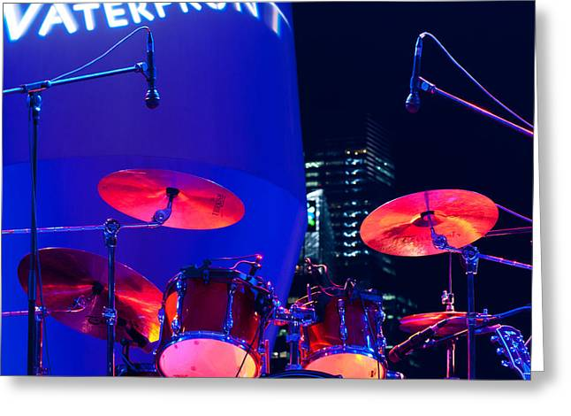Singapore Drum Set 01 Greeting Card by Rick Piper Photography