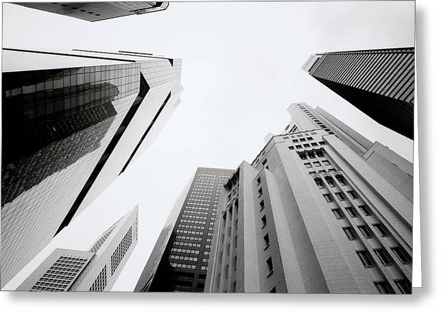 Vertigo Greeting Cards - Singapore Vertigo Greeting Card by Shaun Higson
