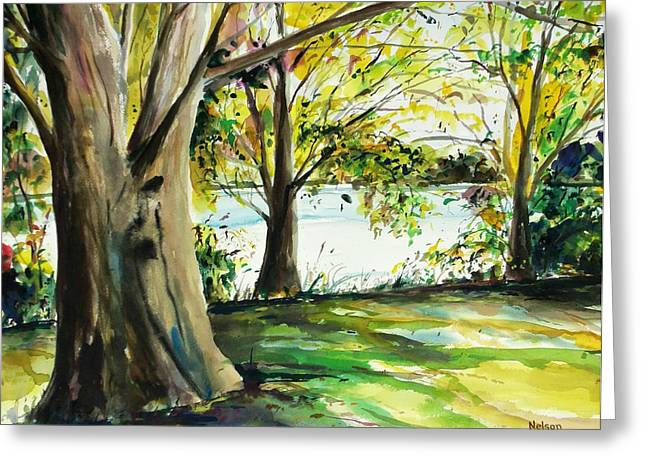 Scott Nelson And Son Paintings Greeting Cards - Singeltary Shade Greeting Card by Scott Nelson