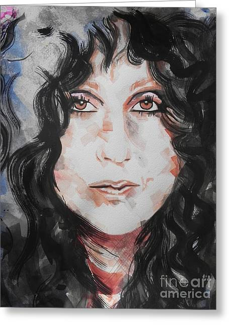 Chateau Greeting Cards - Singer Cher   Greeting Card by Chrisann Ellis