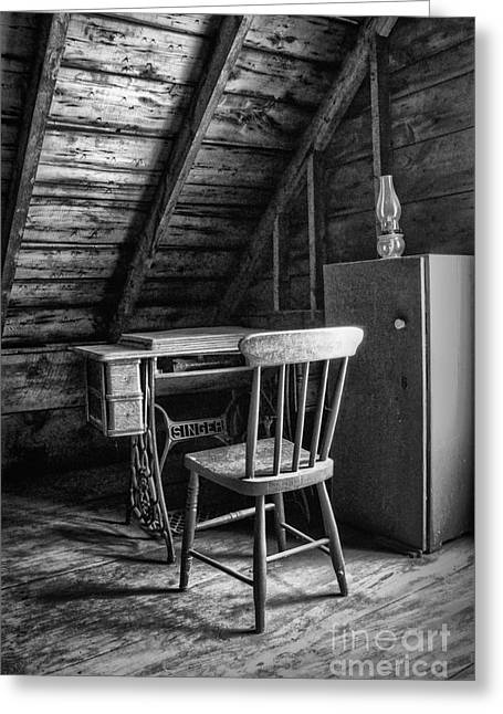 Manual Greeting Cards - Singer in the Attic Greeting Card by Nikolyn McDonald