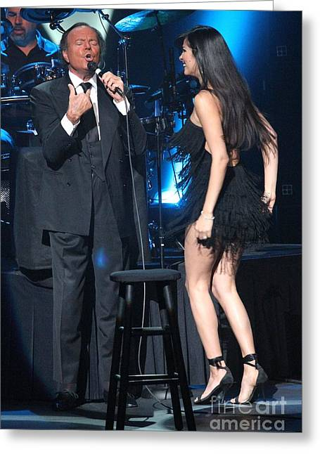 La Cueva Greeting Cards - Singer Julio Iglesias Greeting Card by Front Row  Photographs