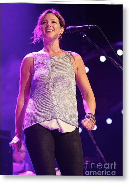 Mclachlan Greeting Cards - Singer Sarah McLachlan Greeting Card by Front Row  Photographs