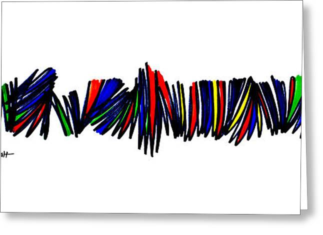 Zigzag Forms Greeting Cards - Singh Abstract 4 Greeting Card by Artist  Singh