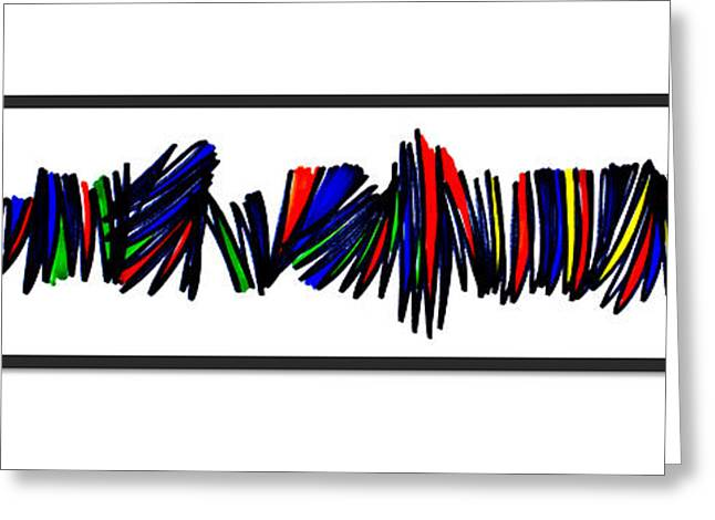 Zigzag Forms Greeting Cards - Singh Abstract 4 Singh  Greeting Card by Artist  Singh