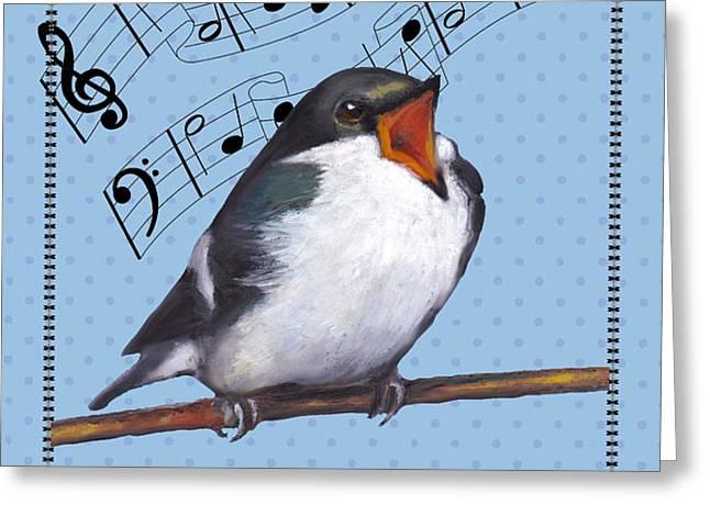 Singing Bird Birthday Card Greeting Card by Joyce Geleynse