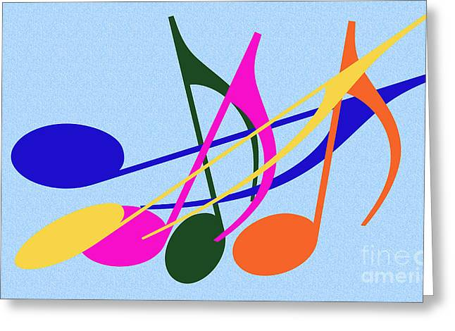 Installation Art Greeting Cards - Singing Happily Greeting Card by Tina M Wenger