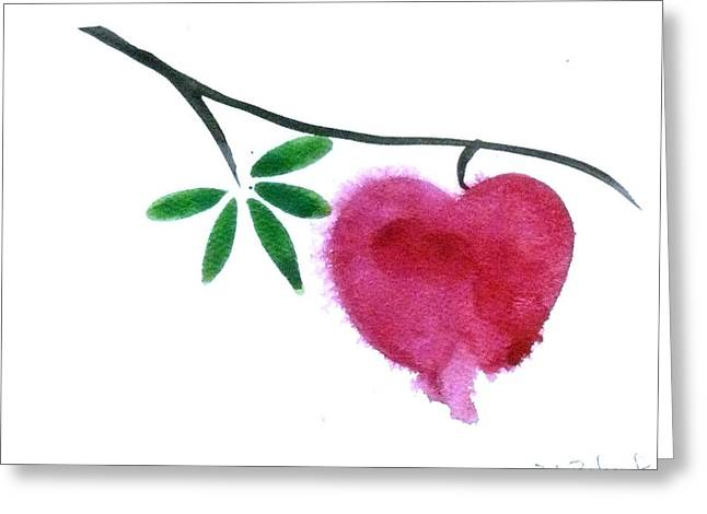 Cubicle Greeting Cards - Single Bleeding Heart Greeting Card by Deb Babcock