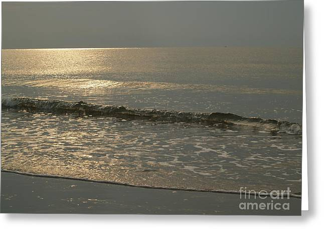 Single Breaker At Dawn On Hunting Island  Greeting Card by Anna Lisa Yoder