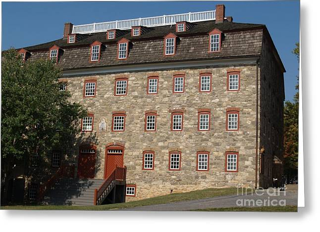Fieldstone Greeting Cards - Single Brethrens House -- Moravian College Greeting Card by Anna Lisa Yoder