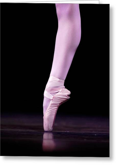 Ballet Dancers Photographs Greeting Cards - Single Pointe Greeting Card by Lone  Dakota Photography