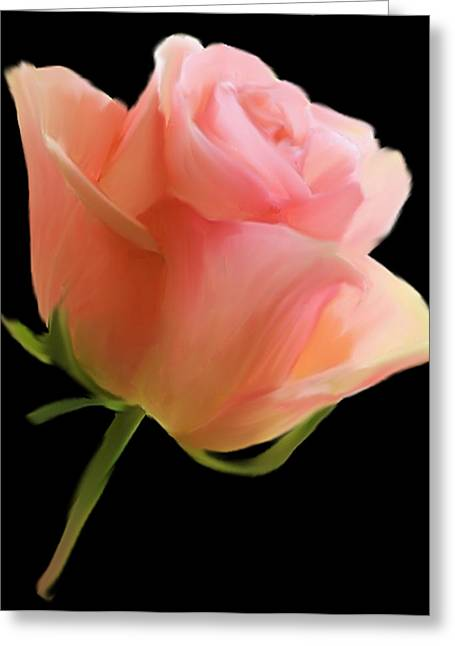Single Mixed Media Greeting Cards - Single Rose Greeting Card by Dennis Buckman