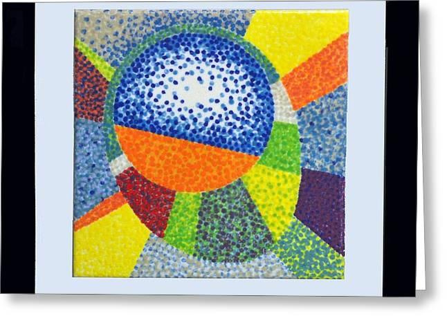 Single Tile Series #1 Greeting Card by Duane Ewing