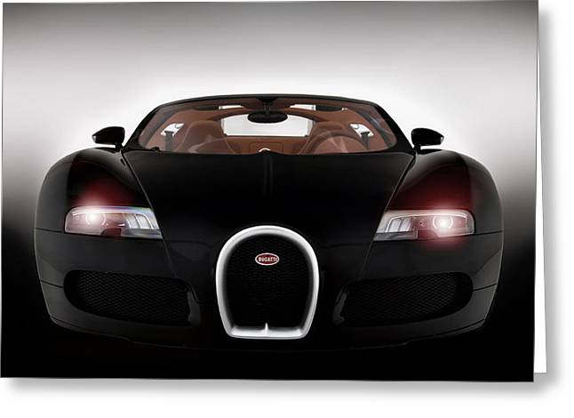 Bugatti Greeting Cards - Sinister Bugatti Greeting Card by Peter Chilelli