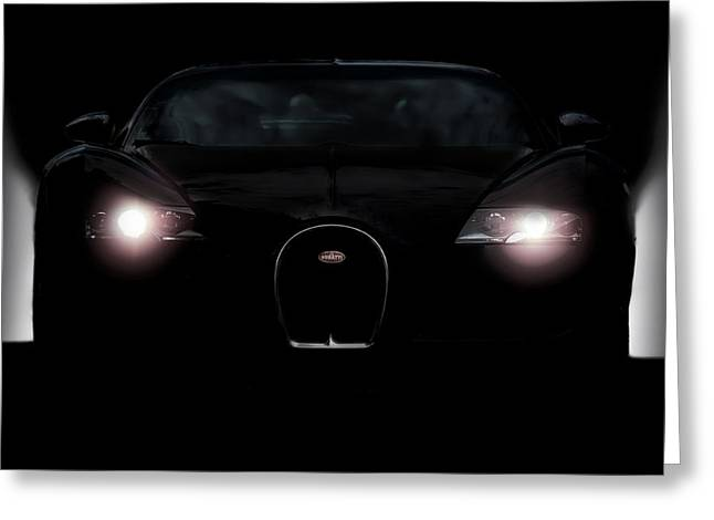 Bugatti Greeting Cards - Sinister Veyron Greeting Card by Peter Chilelli