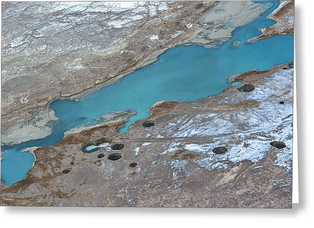 Sink Holes Greeting Cards - Sinkholes In Northern Dead Sea Area Greeting Card by Ofir Ben Tov