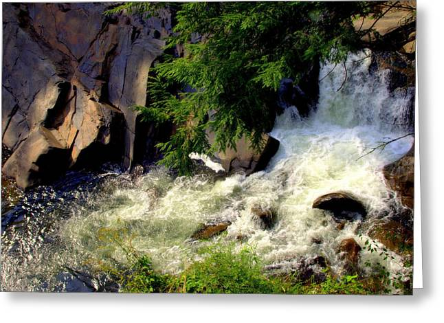 Sink Holes Greeting Cards - Sinks Waterfall Greeting Card by Karen Wiles
