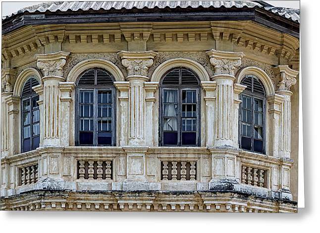 Symetrical Greeting Cards - Sino Portuguese Architecture Greeting Card by Nomad Art And  Design