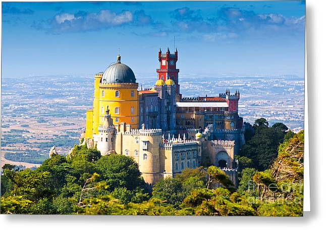 Pena Greeting Cards - Sintra 01 Greeting Card by Tom Uhlenberg