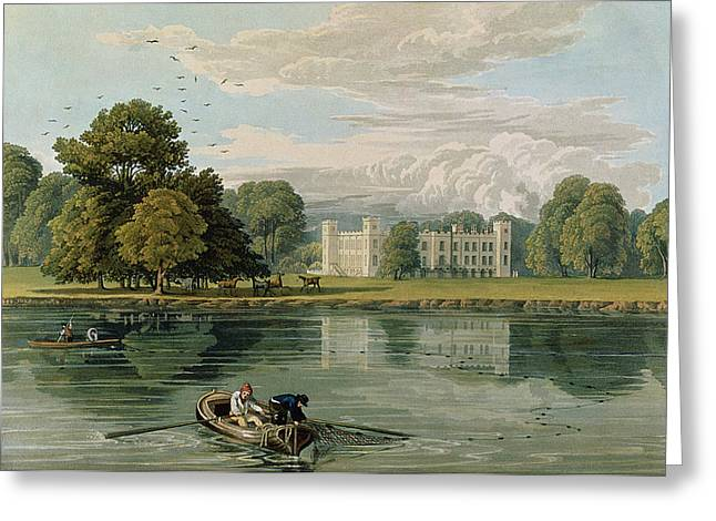 Sion House, Engraved By Robert Havell Greeting Card by William Havell