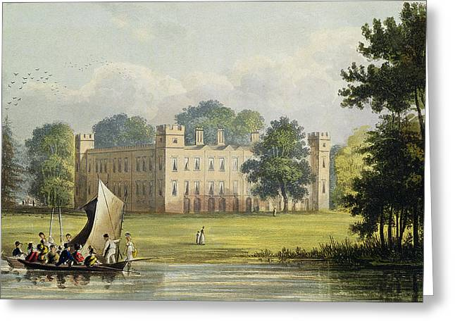 Exterior Views Greeting Cards - Sion House, From R. Ackermanns Greeting Card by John Gendall