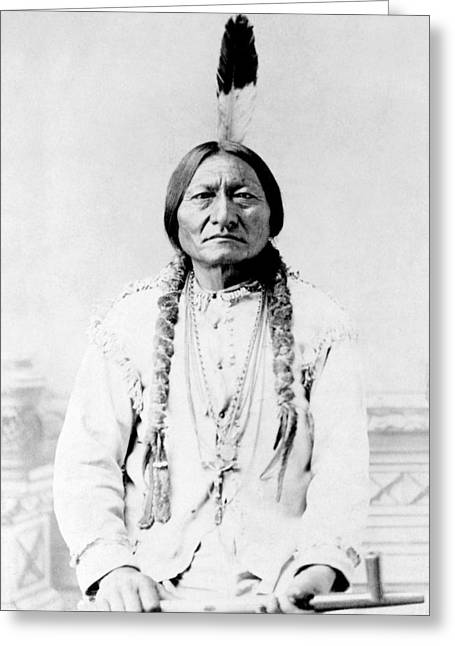 Sioux Chief Sitting Bull Greeting Card by War Is Hell Store