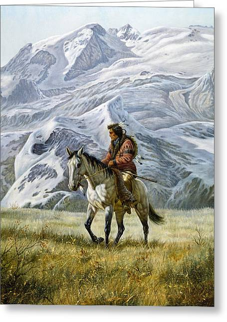 Bravery Greeting Cards - Sioux Scout Greeting Card by Gregory Perillo