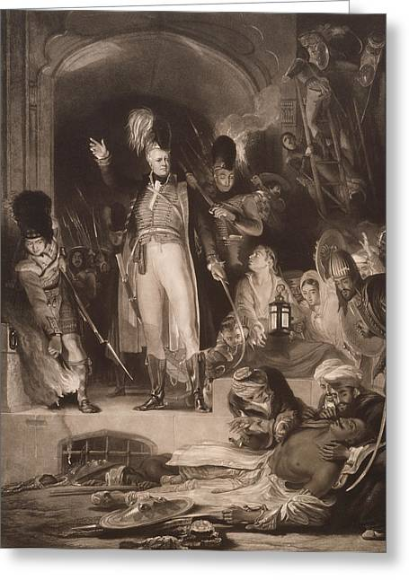 Major General Greeting Cards - Sir David Baird Discovering The Body Of Tipu Sultan, 1843 Mezzotint Greeting Card by Sir David Wilkie